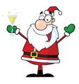 Jolly Christmas Santa Drinking Champagne vector image vector image