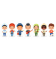 kids professions cartoon happy children different vector image vector image