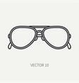 line flat plain vintage fashion sunglasses vector image vector image