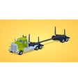 Low poly empty log truck vector image vector image