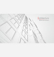 modern architecture wireframe concept of urban vector image vector image