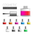 Multi-colored nail polish vector image vector image