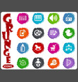 music icons set vector image