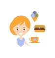 No Diet As Personal Happiness Idea vector image