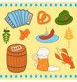 Oktoberfest icons set vector image
