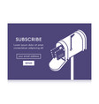 online newsletter template email subscribe form vector image