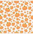 orange pumpkins seamless pattern on light vector image