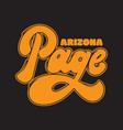 page arizona handwritten lettering made in old vector image vector image