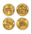 premium quality golden labels collection 2 vector image vector image