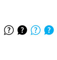 question mark set isolated icons help sign vector image vector image