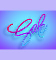 rainbow sale lettering in 3d style liquid effect