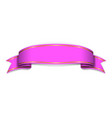 ribbon pink banner sign satin blank promotion vector image vector image