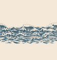 sea waves sketch pattern vector image