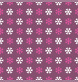seamless art pattern with snowflakes on lilac vector image vector image