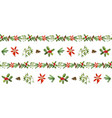 seamless pattern with cone fir branches holly vector image