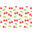 seamless pattern with red cherry vector image vector image