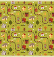 small city map seamless pattern top voew vector image