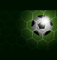 soccer ball in goal with light vector image vector image