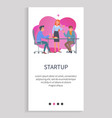 startup team developing project in workplace web vector image vector image