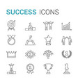 success line icons vector image vector image