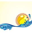 Summer vacation card vector image vector image