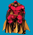 superhero sitting isolated vector image vector image