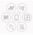Tablet PC Hard disk and pc mouse icons vector image vector image