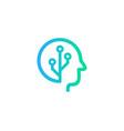 tech brain logo icon design vector image vector image