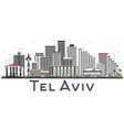 tel aviv israel city skyline with gray buildings vector image vector image