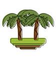 tree palms symbol vector image vector image