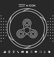 tri spinner icon graphic elements for your vector image