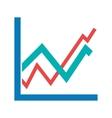 Upward Trend in Graph vector image