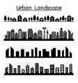 urban landscape city skyline graphic design vector image