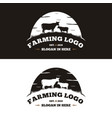 vintage cattle and angus emblem label logo design vector image vector image
