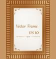 vintage wood frame vector image vector image