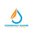 water and fire logo vector image vector image