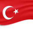 Waving flag of turkey isolated on white vector image vector image