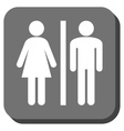 WC Persons Rounded Square Icon vector image