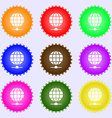 Website Icon sign Big set of colorful diverse vector image