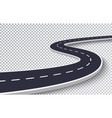 Winding road isolated transparent special effect