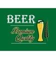 Beer and brewery emblem vector image