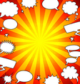 Bright comics speech bubbles frame background vector image