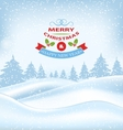 Christmas Winter Card for Merry Christmas and vector image