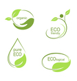 Ecological emblems and frames set vector image