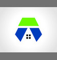building geometry logo vector image