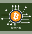 bitcoin cryptocurrency poster vector image