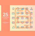 25 business icons business symbol two tone color vector image