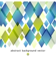 abstract background of blue and green diamonds vector image vector image