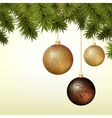 Abstract Christmas background with golden and vector image vector image