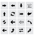 arrows icon set vector image vector image